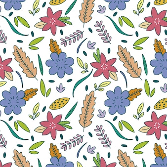 Floral pattern background of spring