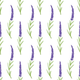Floral pattern background template design with lavender flowers.