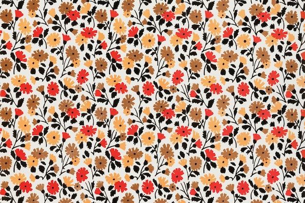 チャールズゴイによるアートワークからリミックスされた花柄の背景ベクトル