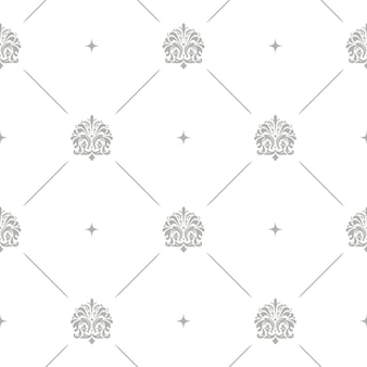 Floral pattern baroque damask seamless vector background
