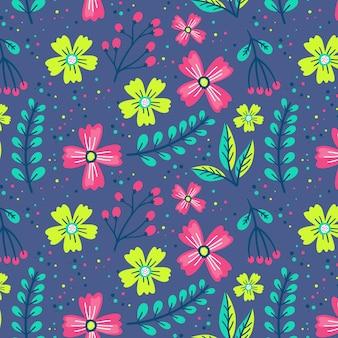 Цветочный узор красочный дизайн
