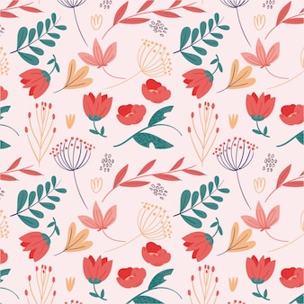 Floral pattern concept Free Vector