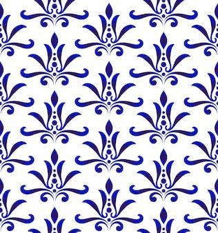 花柄のダマスカス様式