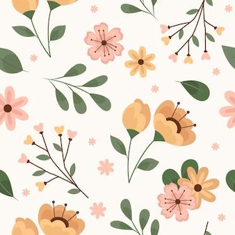 Floral pattern design in peach tones