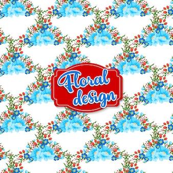 딸기와 꽃 패턴 디자인