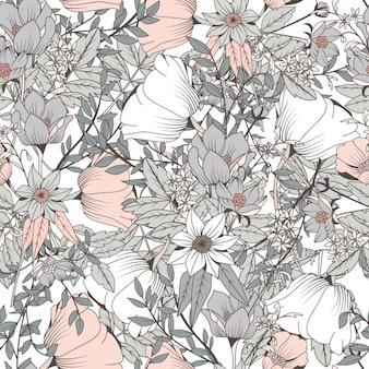 Handdrawn Flower Vectors Photos And PSD Files