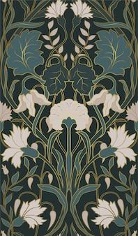 벽지를위한 꽃 패턴입니다.
