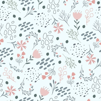Floral pattern in gentle pastel colors