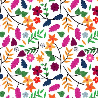 花柄手描きエキゾチックなスタイル