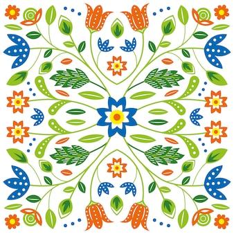 Цветочный узор в стиле плоский дизайн
