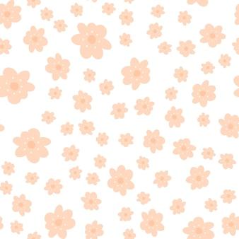 花と落書きスタイルの花柄