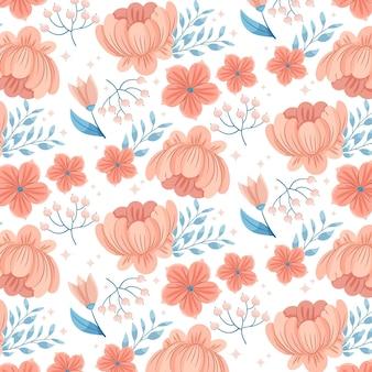 桃色の花柄