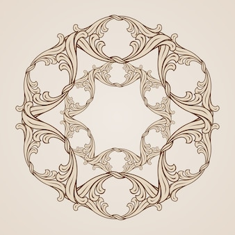 Floral pattern isolated on beige