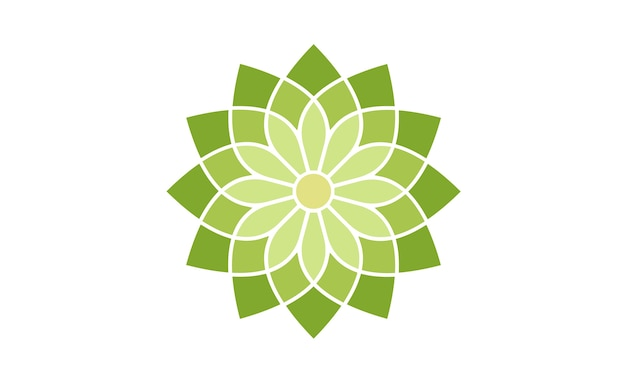 Floral pattern logo design