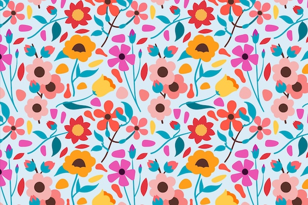 Floral pattern pack theme