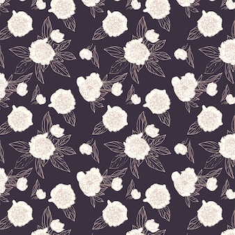Floral pattern peonies