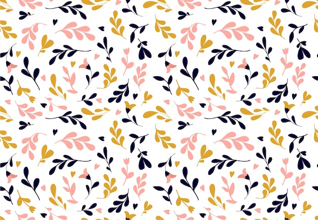 Floral pattern. seamless vector texture with flowers for fashion prints or wall paper.