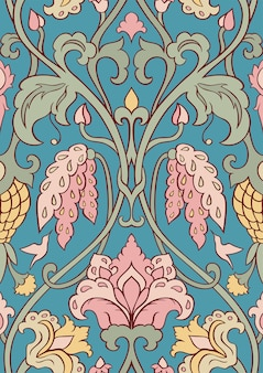 Floral pattern for textile.