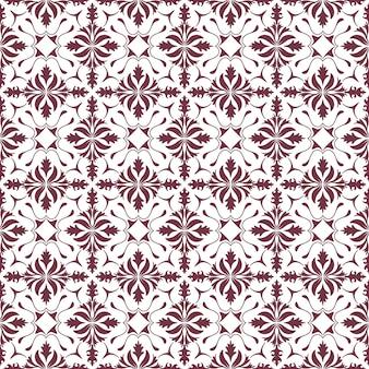 フローラルパターン。壁紙バロック、damask。シームレスなベクトルの背景。紫と白の装飾