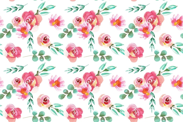 Floral pattern watercolor style