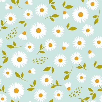 Цветочный узор с ромашкой милый узор с мелкими цветочками.