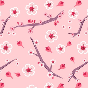 Floral pattern with cherry blossom