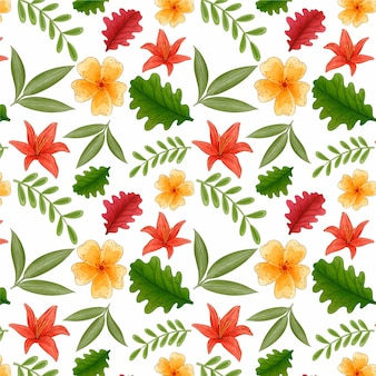 Floral pattern with colorful flowers