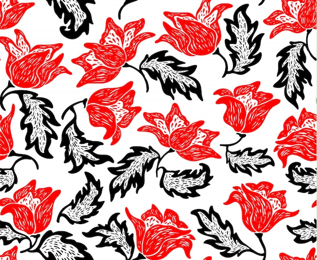 Floral pattern with flowers