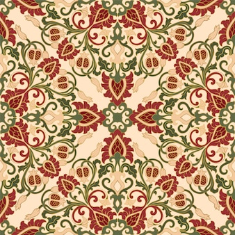 Floral pattern with pomegranate.