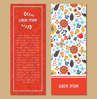 Floral patterned card set