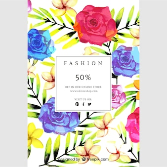 Floral pinterest graphic