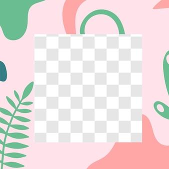 花のポスト。ガーデンフローラソーシャルメディア投稿テンプレート。カラーガーデン春のパターン、写真の場所とストーリーメディアソーシャルポストフレーム。ベクトルイラスト