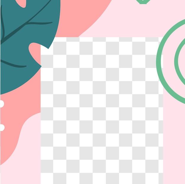Цветочный пост. шаблон сообщения в социальных сетях садовой флоры. smm продвижение векторной области и реклама в социальной сети, включая иллюстрацию фона рекламы