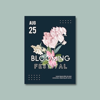 Floral poster