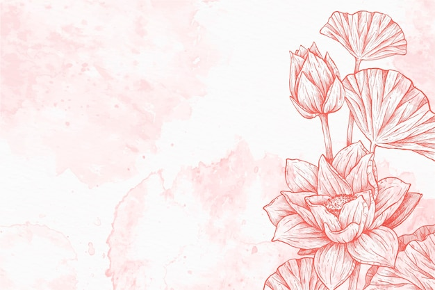 Floral powder pastel hand drawn background