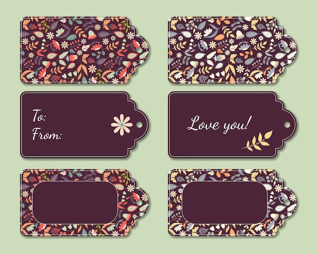 Floral present tags