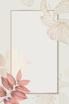 Floral rectangle frame design