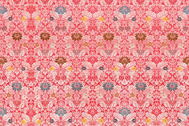 Floral red victorian pattern