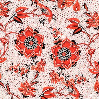 Sfondo floreale rosso stile vintage