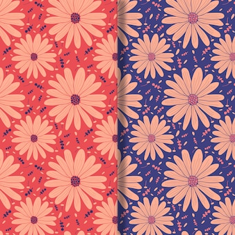Floral repeat pattern design set