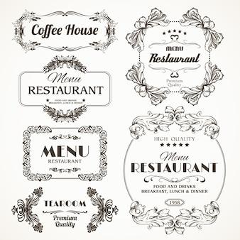 Цветочные рамки ресторана