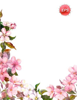 Floral retro background with blossom.