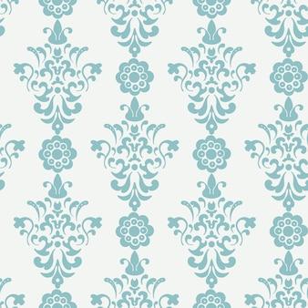 花のレトロな壁紙。無限の背景、シームレスなパターン、ラッピングまたは背景、ビンテージベクトルイラストデザイン
