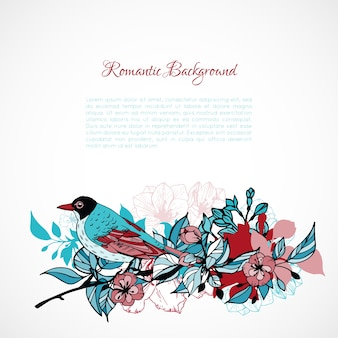 Floral romantic background