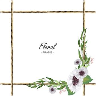 Floral rope frame