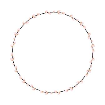 Цветочная круглая рамка. цветочный венок