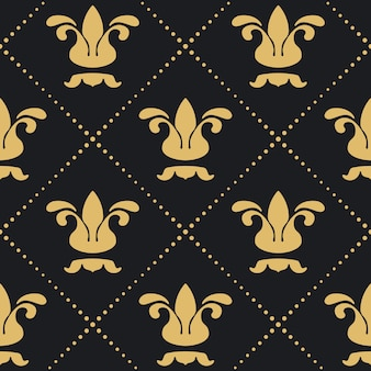 Floral royal background pattern. retro victorian decorative wallpaper.