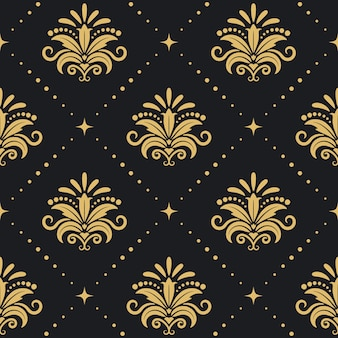 Floral royal background. seamless pattenr