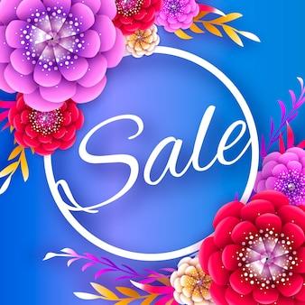 Floral sale banner