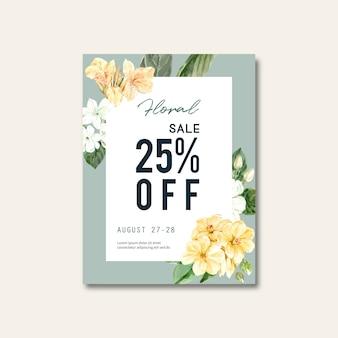 Floral sales flyer